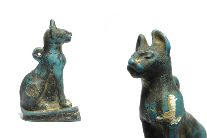 Ancient Coins - ANCIENT EGYPT -   EXTREMLY RARE HUGE AMULET OF A CAT , 600 - 300 B.C