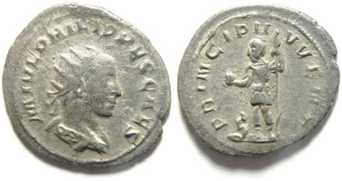 Ancient Coins - Philip I, 244 - 249 AD, Silver Antoninianus
