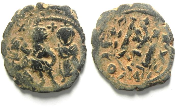 Ancient Coins - HERACLIUS AE FOLLIS, NICE PATINA