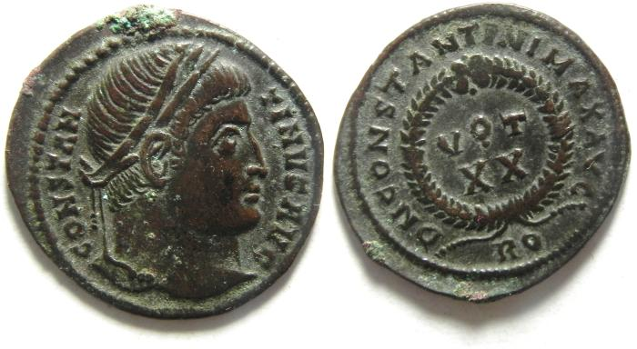 Ancient Coins - BEAUTIFULL CONSTANTINE I AE 3 ,ROME
