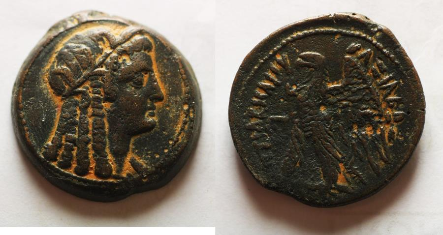 Ancient Coins - PTOLEMAIC EMPIRE. PTOLEMY VI 180-145 BC. AE29 . WITH ISIS