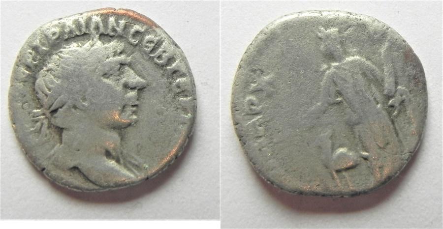 Ancient Coins - ARABIA. DECAPOLIS. BOSTRA. TRAJAN SILVER DRACHM