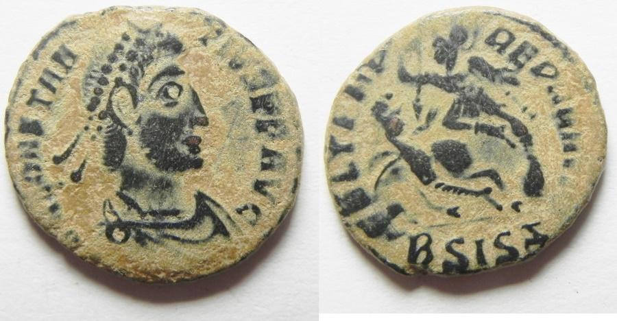 Ancient Coins - CONSTANTIUS II AE 3 . FALLEN HORSEMAN
