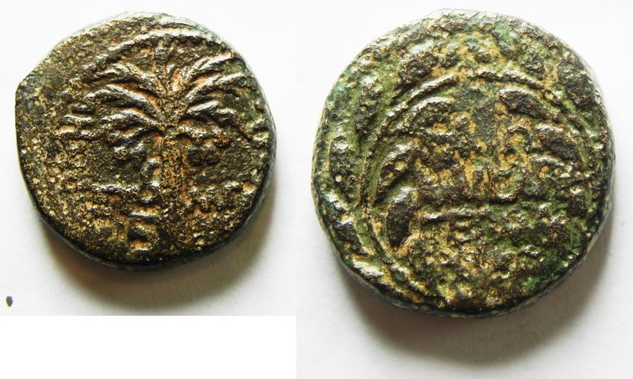 Ancient Coins - JUDAEA, HERODIAN DYNASTY. HEROD ANTIPAS. (4 BCE-39 CE). TIBERIAS