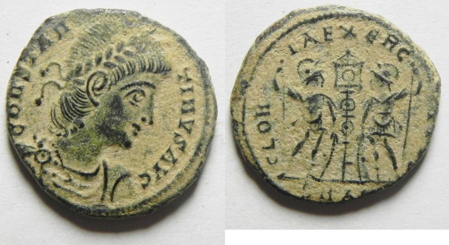 Ancient Coins - CONSTANTINE II AE 4 , BEAUTIFUL DESERT PATINA