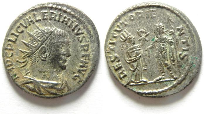 Ancient Coins - Valerian I: A.D. 253-260. Billon , Antoninianus , CHOICE QUALITY