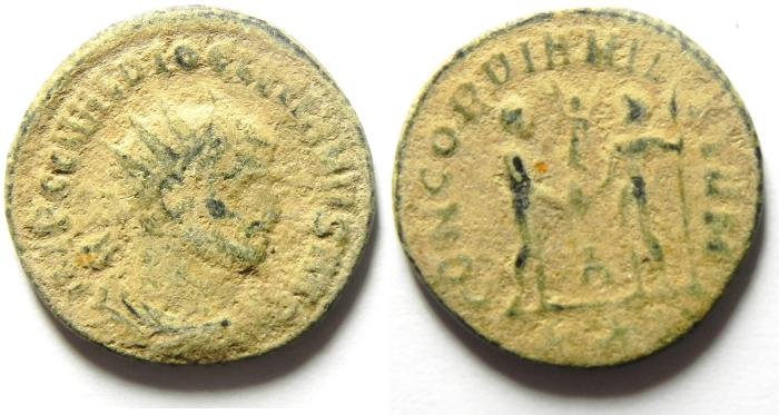 Ancient Coins - DIOCLETIAN AE ANTONINIANUS , AS FOUND