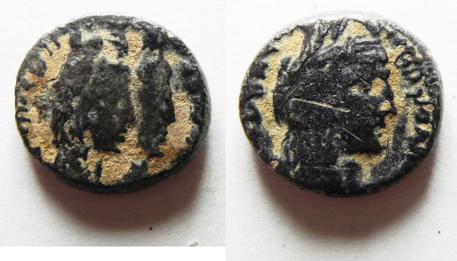 Ancient Coins - Nabatean kingdom. Aretas IV (9 BC-AD 40). AR drachm (15mm, 3.75g). Petra mint. Struck AD 20-40.