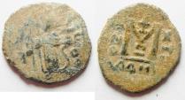 Ancient Coins - ARAB-BYZANTINE AE FALS. DAMASCUS. AS FOUND