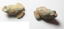 Ancient Coins - BRONZE AGE. 3200 - 2500 B.C. Egypt or Syria. AE frog 1 1/2 shekel weight (27 x 20 x 10mm, 12.61g).