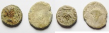 Ancient Coins - Syria. Decapolis. Abila. Lead 15mm, 2.73gm and 19mm , 4.64gm (lot of 2). Struck c. AD 145-176.