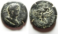 Ancient Coins - Egypt. Alexandria under Hadrian (AD 117-138). AE drachm (33mm, 26.47g). Struck in regnal year 19 (AD 134/5).