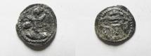 Ancient Coins - SASANIAN. Shapur II (AD 309-379). AR obol (12mm, 0.62g). Uncertain mint.