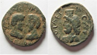 Ancient Coins -  Judaea. Aelia Capitolina under Marcus Aurelius and Lucius Verus (AD 161-169). AE 21mm, 7.35g.