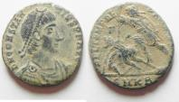 BEAUTIFUL AS FOUND. CONSTANTIUS II AE CENT.