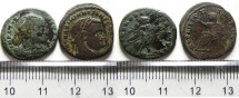 Ancient Coins - LOT OF 2 POSTHUMOUS ROMAN ISSUES , RARE!!