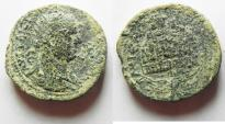 Ancient Coins - JUDAEA. SAMARIA. NEAPOLIS AE 25. TREBINIANUS GALLUS. AS FOUND