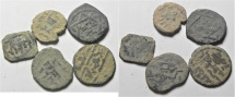 LOT OF 5 ISLAMIC AE COINS