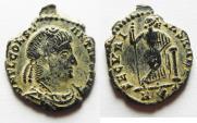 Ancient Coins - RARE. ORIGINAL DESERT PATINA: CONSTANTIUS II AE 4