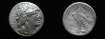 Ancient Coins - Apparently unique and unpublished:  Ptolemaic kings. Ptolemy II Philipator  (285-246 BC). AR tetradrachm. Imitation of Ake-Ptolemais. Struck c. 256/5 BC or later.