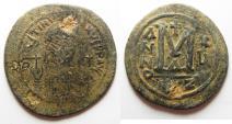 Ancient Coins - BYZANTINE. JUSTINIAN I AE FOLLIS