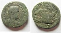 Ancient Coins - Neapolis, Samaria: Trebonianus Gallus, 251 - 253 AD. AE 19