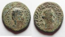 Ancient Coins - DECAPOLIS. GADARA. AUGUSTUS. RARE COIN. AS FOUND