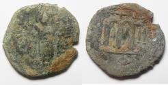 Ancient Coins - ARAB-BYZANTINE. AE FALS. AS FOUND. DAMASCUS