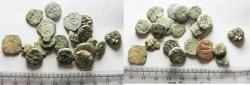 Ancient Coins - AS FOUND: LOT OF 20 ANCIENT JUDAEAN PRUTOT COINS