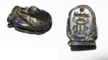 Ancient Coins - ANCIENT EGYPT, NEW KINGDOM. LAPIS LAZULI DUCK AMULET WITH THUTMOSE III CARTOUCHE. 1479 - 1425 B.C
