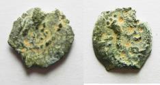 Ancient Coins - Judaea, Herod I, Prutah, 40-4 BC, Jerusalem. EAGLE