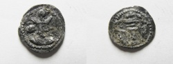 Ancient Coins - SASANIAN. Shapur II (AD 309-379). AR obol (12mm, 0.62g). Uncertain mint.