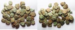 Ancient Coins - LOT OF 50 COINS: Judaea, Alexander Jannaeus, 103-76 BC, AE Prutah (Biblical Widow's Mite).