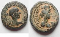 Ancient Coins - Trajan Decius. Judea (Samaria), Caesarea Maritima Mint 249-251 AD. AE 21