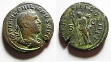 Ancient Coins - Roman Empire - Philip I (244 - 249 A.D.) bronze sestertius