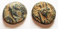 Ancient Coins - MESOPOTAMIA, Carrhae. Caracalla. AD 198-217. Æ 17