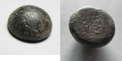 Ancient Coins - ANCIENT NEAR EAST. Judaea, circa. eighth-sixth century BC. AE dome-shaped nezef weight (14mm x 8mm, 9.42g).