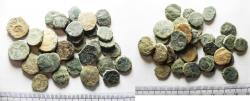 Ancient Coins - LOT OF 30 ANCIENT BRONZE NABATAEAN COINS