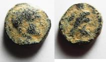 Ancient Coins - JUDAEA. CAESAREA MARITIMA. ELAGABALUS AE 17