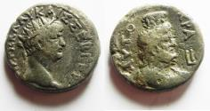 Ancient Coins - EGYPT. ALEXANDRIA . NERO BILLON TETRADARCHM WITH SERAPIS