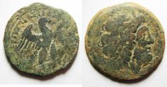 Ancient Coins - PTOLEMAIC KINGS of EGYPT. Ptolemy VIII Euergetes II (Physcon). 145-116 BC. Æ Oktobol