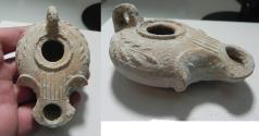Ancient Coins - JUDAEA. HERODIAN. TERRACOTTA OIL LAMP. 1ST CENTURY A.D