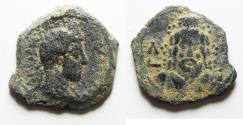 Ancient Coins - Egypt. Alexandria under Commodus (AD 180-192). AE diobol (24mm, 5.41g). Struck in regnal year 32 (AD 191/2).