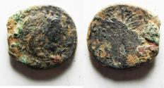 Ancient Coins - AS FOUND: KYRENAICA, Kyrene. temp. Magas. As king of Kyrene, circa 282/75-261 BC. Æ18