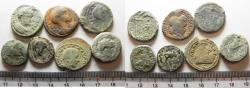 Ancient Coins - AS FOUND. LOT OF 7 JUDAEA / DECAPOLIS BRONZE CITY COINS