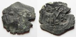 Ancient Coins - byzantine . heraclius ae follis. NEEDS CLEANING