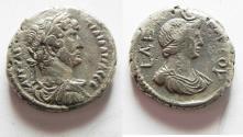 Ancient Coins - EGYPT, Alexandria. Hadrian. AD 117-138. BI Tetradrachm. VERY RARE WITH ISIS