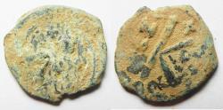 Ancient Coins - BYZANTINE. HERACLIUS AE 1/2 FOLLIS