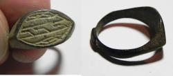 Ancient Coins - BYZANTINE. EARLY ISLAMIC BRONZE RING. 600 - 700 A.D