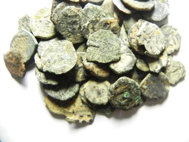 Ancient Coins - JUDAEA , LOT OF 50 WIDOW'S MITES, MIGHT FIND OTHER CIVILIZATIONS IN THE LOT!! CHEAP!